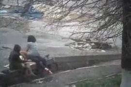 Un poney defonce un une femme